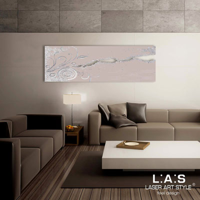 Abstract wall sculptures </br> Code: SI-092-B | Size: 180x58 cm </br> Colour: powder-silver leaf decoration-matched engraving