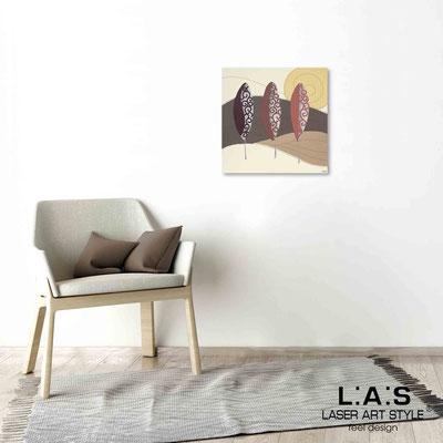 Quarantotto </br>  Codice: Q-015 | Misura: 48x48 cm </br> Colore: decoro ruggine-incisione legno