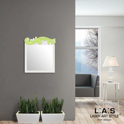 Specchiere </br> Codice: SI-319 | Misura: 60x70 cm </br>  Colore: panna-verde acido