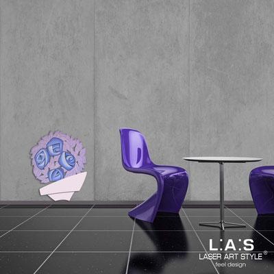 Quadri Floreali </br>  Codice: SI-182-A   Misura: 58x70 cm </br>  Colore: rosa chiaro-decoro lilla-incisione legno