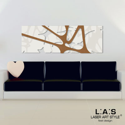 Abstract wall sculptures </br> Code: SI-158 | Size: 150x50 cm </br> Colour: cream-bronze-wood engraving