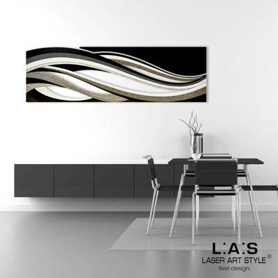 Abstract wall sculptures </br> Code: SI-114C | Size: 2pz 180x55 cm/cad </br> Colour: black decoration-black-wood engraving