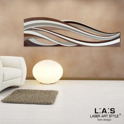 Quadri Astratti </br> Codice: SI-114 | Misura: 180x55 cm </br> Colore: decoro marrone-incisione legno