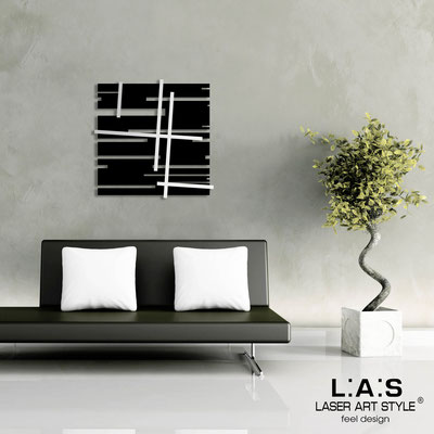 Abstract wall sculptures </br> Code: SI-094 | Size: 90x90 cm </br> Code: SI-094M | Size: 60x60 cm </br> Colour: black-inox steel