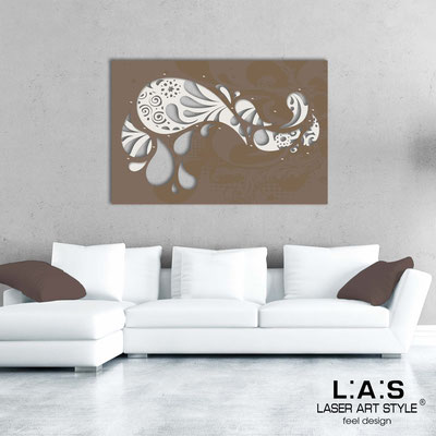 Abstract wall sculptures </br> Code: SI-213 | Size: 150x100 cm </br> Colour: cream-dove grey-wood engraving