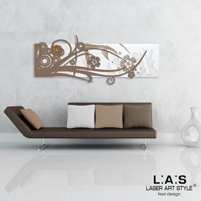 Quadri Astratti </br> Codice: SI-106 | Misura: 148x60 cm </br> Colore: bianco-grigio marrone-incisione legno