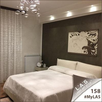A casa di Gianfranco e Maria Elisa   Italia </br> Codice: SI-327XL   Misura: 110x80 cm </br> Colore: panna-grigio marrone-incisione legno