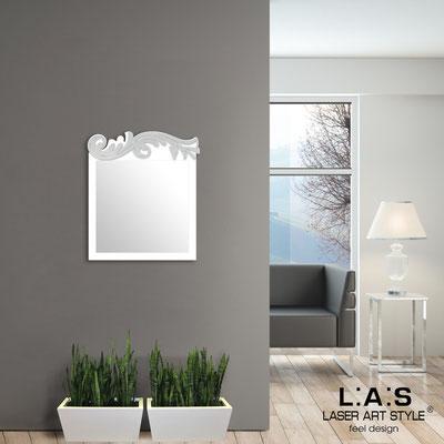 Specchiere </br> Codice: SI-319 | Misura: 60x70 cm </br>  Colore: bianco-argento