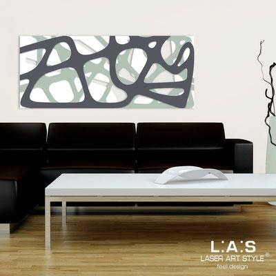 Quadri Astratti </br> Codice: SI-159 | Misura: 140x58 cm </br> Colore: bianco-grigio verde-antracite