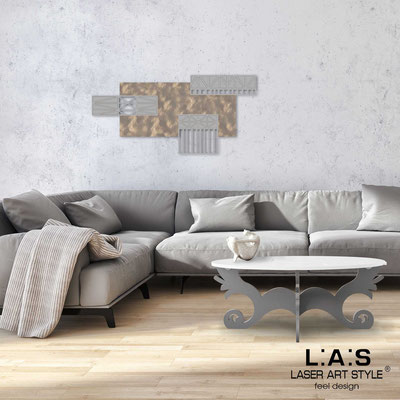Abstract wall sculptures </br> Code: SI-352 | Size: 125x60 cm </br> Colour: light stone decoration-concrete grey-wood engraving