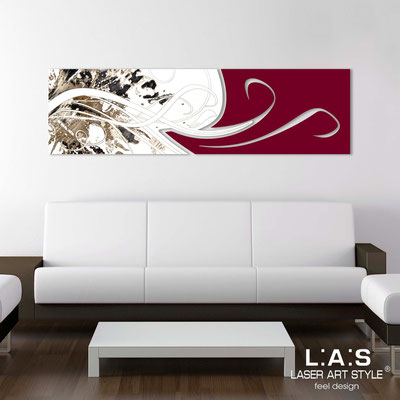 Abstract wall sculptures </br> Code: SI-091-B | Size: 180x58 cm </br> Colour: white-burgundy-black engraving