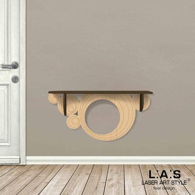 Complementi d'arredo </br> Codice: MW-279 | Misura: 110x30 cm </br> Colore: marrone-natural wood-incisione legno