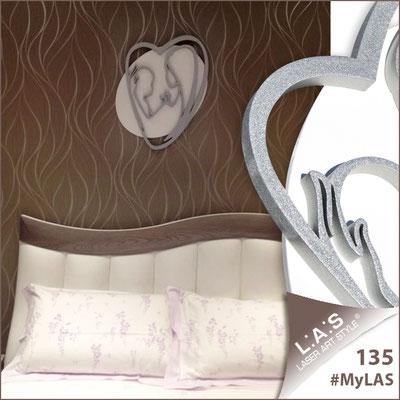 A casa di Silvia <br> Abitazione privata   Italia </br> Codice: SI-227L   Misura: 50x65 cm </br> Colore: bianco - argento