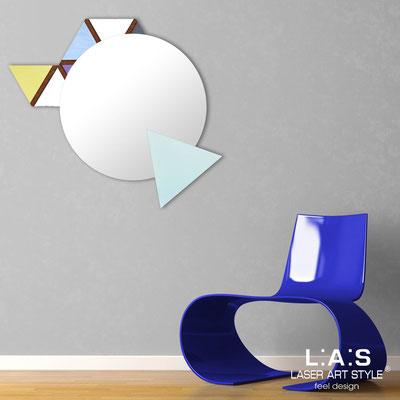 Mirrors </br> Code: SI-205Q-SP | Size: 82x73 cm </br>  Colour: pastel colors decoration-light green-wood engraving