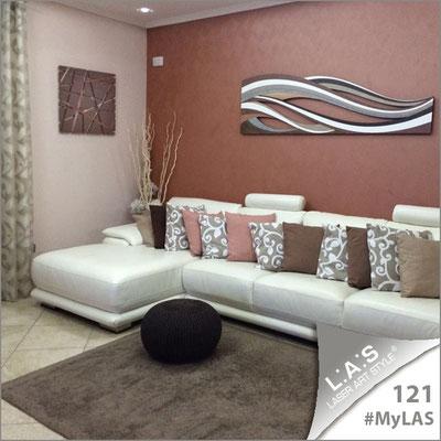 A casa di Mena | Italia </br> Codice: SI-095M | Misura: 60x60 cm </br> Colore: grigio marrone-acciaio inox </br> Codice: SI-114 | Misura: 180x55 cm </br> Colore: decoro marrone-incisione legno