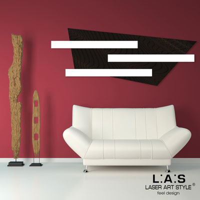 Abstract wall sculptures </br> Code: SI-190 | Size: 180x70 cm </br> Colour: black-white-wood engraving