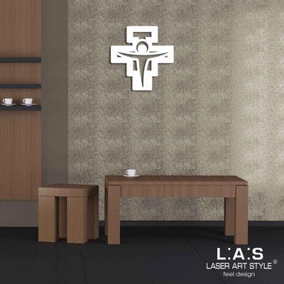 Crucifixes </br> Code: CR23 | Size: 40x40 cm </br> Colour: white