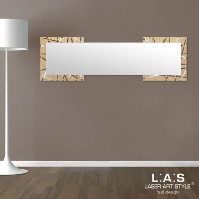 Mirrors </br> Code: MW-095-SPXL | Size: 180x60 cm </br>  Colour: natural wood-inox steel