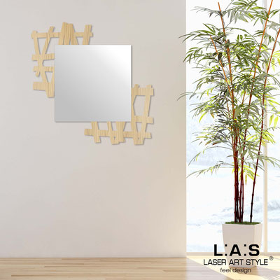 Mirrors </br> Code: W-387 | Size: 90x90 cm </br>  Colour: natural wood