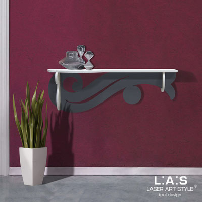 Furnishings </br> Code: SI-285   Size: 110x30 cm </br> Colour: white-charcoal grey