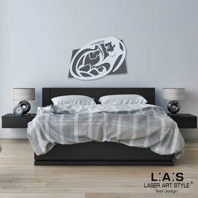 Sacred wall sculptures </br> Code: SI-325M | Size: 40x30 cm </br> Code: SI-325L | Size: 65x50 cm </br> Code: SI-325XL | Size: 90x70 cm </br> Colour: charcoal grey-grey light blue