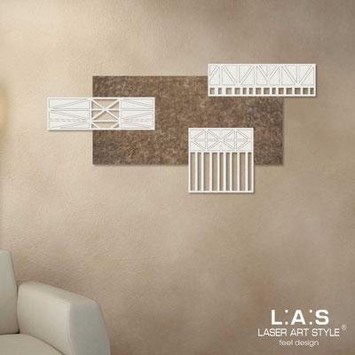 Quadri Astratti </br> Codice: SI-352 | Misura: 125x60 cm </br> Colore: decoro lava-panna-incisione legno