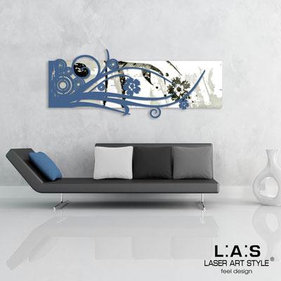 Quadri Astratti </br> Codice: SI-106 | Misura: 148x60 cm </br> Colore: bianco-blu distante-incisione nero