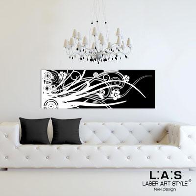 Quadri Astratti </br> Codice: SI-107-B | Misura: 148x50 cm </br> Colore: nero-bianco