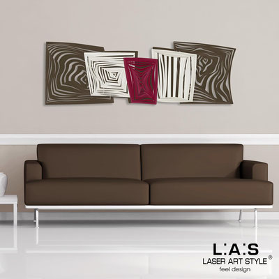 Abstract wall sculptures </br> Code: SI-147 | Size: 180x60 cm </br> Colour: brown-cream-burgundy-invariable engraving