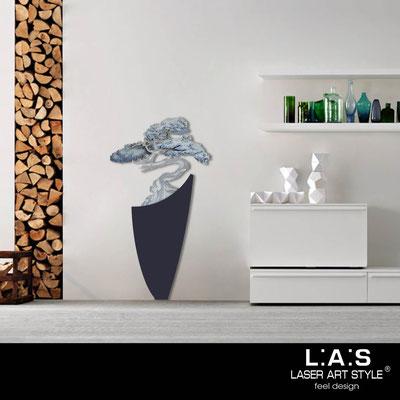 Quadri Floreali </br>  Codice: SI-192-F | Misura: 73x135 cm </br>  Colore: blu petrolio-decoro toni freddi-incisione legno