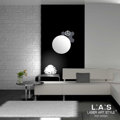 Mirrors </br> Code: SI-321 | Size: 60x65 cm </br>  Colour: charcoal grey-light grey-matched engraving