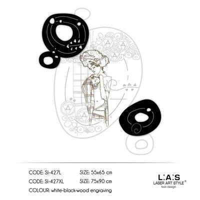 News </br>  Code: SI-427L | Size: 55x65 cm </br>  Code: SI-427XL | Size: 75x90 cm </br> Colour: white-black-wood engraving