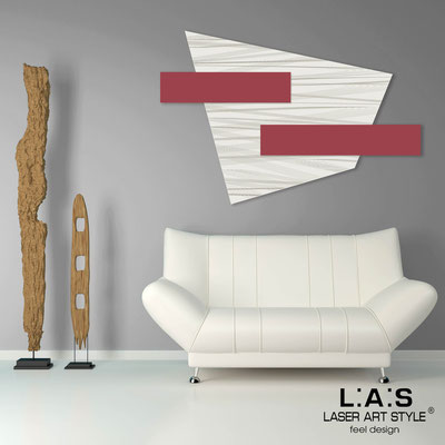 Abstract wall sculptures </br> Code: SI-189 | Size: 150x100 cm </br> Colour: cream-violet red-wood engraving