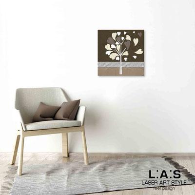 Quarantotto </br>  Codice: Q-008 | Misura: 48x48 cm </br> Colore: decoro tortora-incisione legno