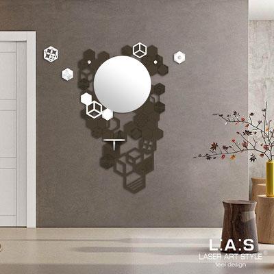 Complementi d'arredo </br> Codice: SI-315 | Misura: 100x150 cm </br> Colore: marrone-bianco-incisione tono su tono