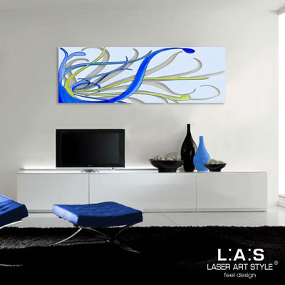 Abstract wall sculptures </br> Code: SI-113 | Size: 150x50 cm </br> Colour: grey light blue-bluette decoration-matched engraving