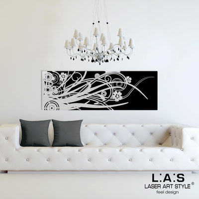 Abstract wall sculptures </br> Code: SI-107-B | Size: 148x50 cm </br> Colour: black-silver