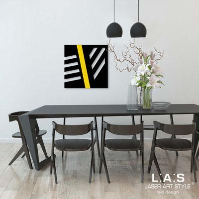 Quadri Astratti </br> Codice: SI-346 | Misura: 60x60 cm </br> Colore: nero-giallo