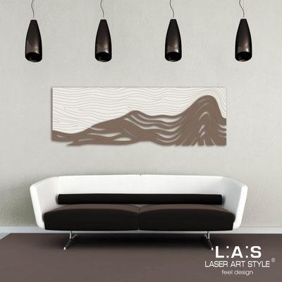 Figurative wall sculpture </br> Code: SI-178 | Size: 180x60 cm </br> Colour: cream-dove grey-wood engraving
