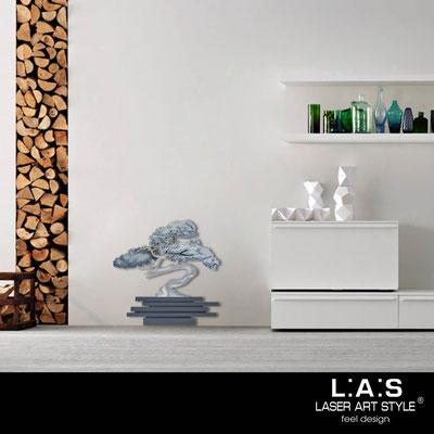Quadri Floreali </br>  Codice: SI-192-G | Misura: 73x73 cm </br>  Colore: antracite-decoro toni freddi-incisione legno