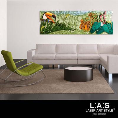 Quadri Figurativi </br> Codice: SI-130 | Misura: 180x60 cm </br> Colore: decoro verde-incisione legno