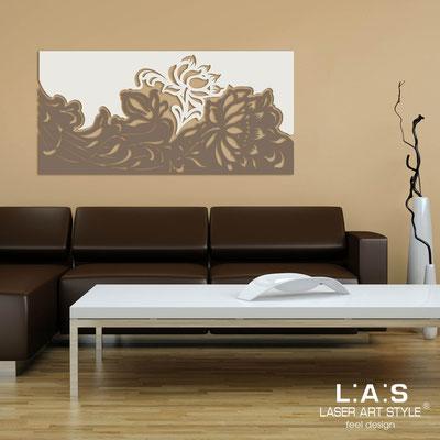 Quadri Floreali </br>  Codice: SI-163SS   Misura: 180x90 cm </br>  Colore:  panna-grigio marrone