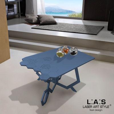 Complementi d'arredo </br> Codice: SI-317 | Misura: 100x60 h50 cm </br> Colore: blu distante-incisione tono su tono