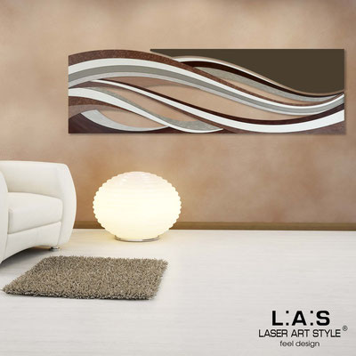 Abstract wall sculptures </br> Code: SI-114C | Size: 2pz 180x55 cm/cad </br> Colour: brown decoration-brown-wood engraving
