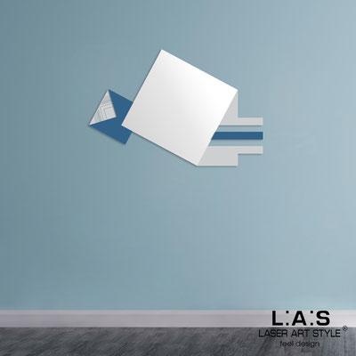 Specchiere </br> Codice: SI-359 | Misura: 120x80 cm </br>  Colore: grigio luce-blu distante