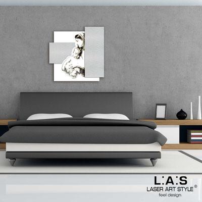 Quadri Sacri </br> Codice: SI-161 | Misura: 60x60 cm </br>  Colore: bianco-argento-incisione nero