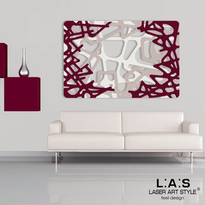 Abstract wall sculptures </br> Code: SI-144 | Size: 150x100 cm </br> Colour: cream-powder-burgundy