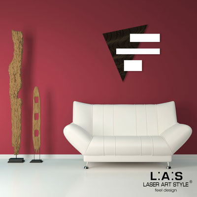 Abstract wall sculptures </br> Code: SI-188 | Size: 65x65 cm </br> Colour: black-white-wood engraving