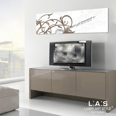 Abstract wall sculptures </br> Code: SI-109-B | Size: 180x58 cm </br> Colour: white-dove grey decoration-matched engraving