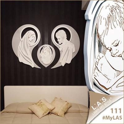 A casa di Mena | Italia </br> Codice: SI-266-SF | Misura: 120x90 cm </br> Colore: argento - bianco